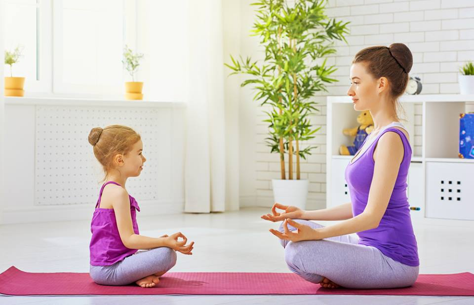 Mommy and me yoga (or daddy)!