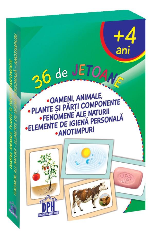 36 de Jetoane - Oameni, Animale, Plante, Fenomene, Igienă, Anotimpuri
