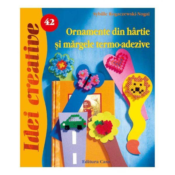Ornamente din hârtie şi mărgele termo-adezive - Idei Creative 42