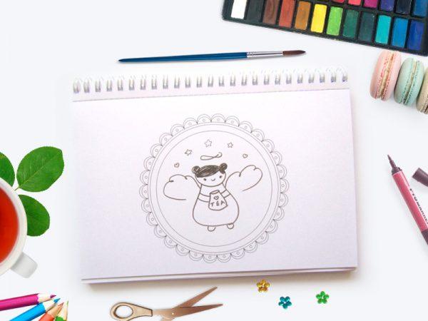Caiet creativ - Ceiut fericit!