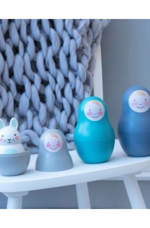 Jucării multisenzoriale Nesting Babies – Blue