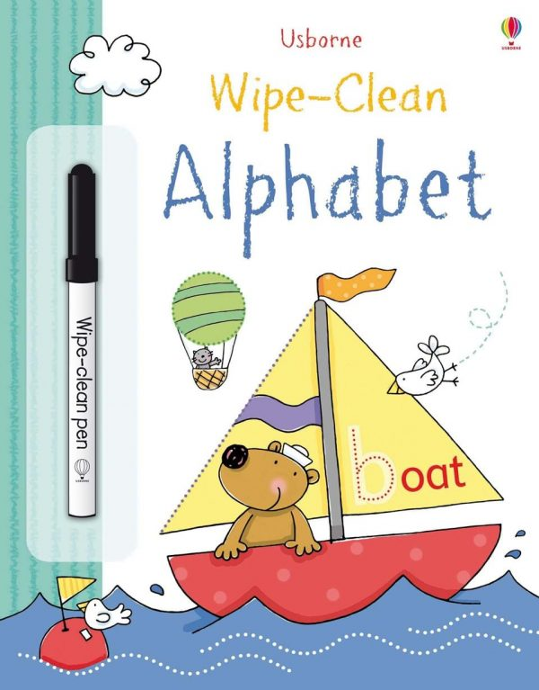 Wipe and clean alphabet