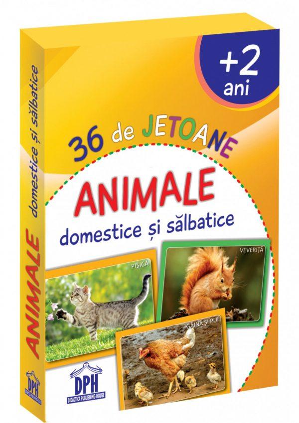 36 de Jetoane - Animale domestice si salbatice
