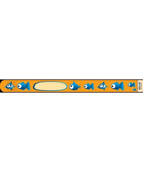 Brăţară de identificare pentru copii infoband - set 10 brățări de unică folosinţă - Peștișori