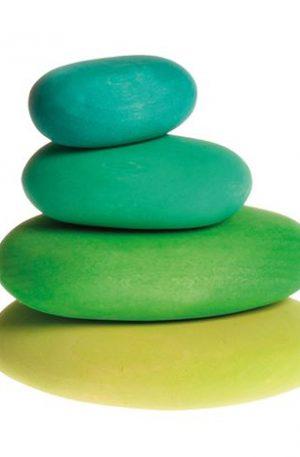 FORME IN ECHILIBRU, oval, nuante de verde