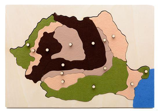Harta Romaniei forme de relief