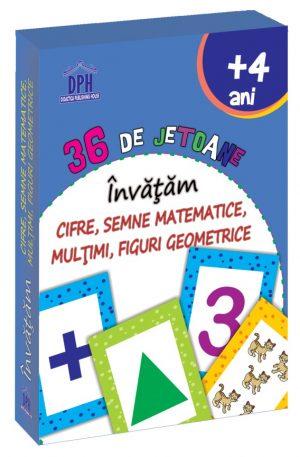 36 de Jetoane – Invatam – Cifre, Semne Matematice, Multimi, Figuri geometrice