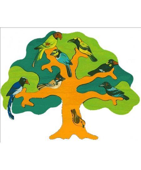 Jucărie Fauna - Copac cu păsări - regiunea Asia