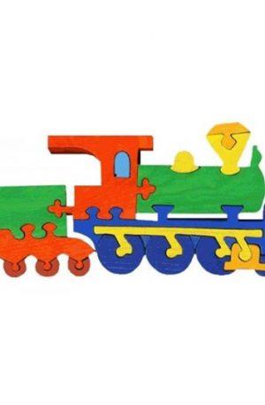 Jucărie Fauna – Locomotivă mare din lemn