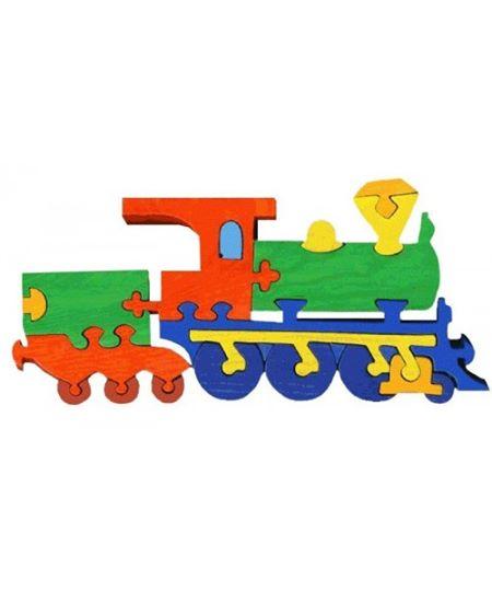 Jucărie Fauna - Locomotivă mare din lemn