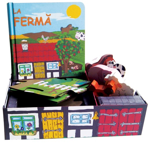 La ferma - Set cu Puzzle, Carte, Figurine