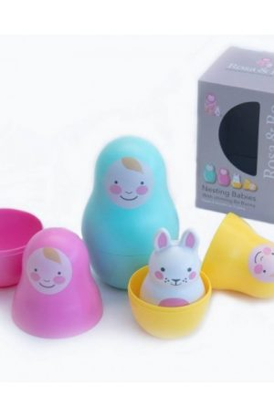 Jucării multisenzoriale Nesting Babies – Rainbow