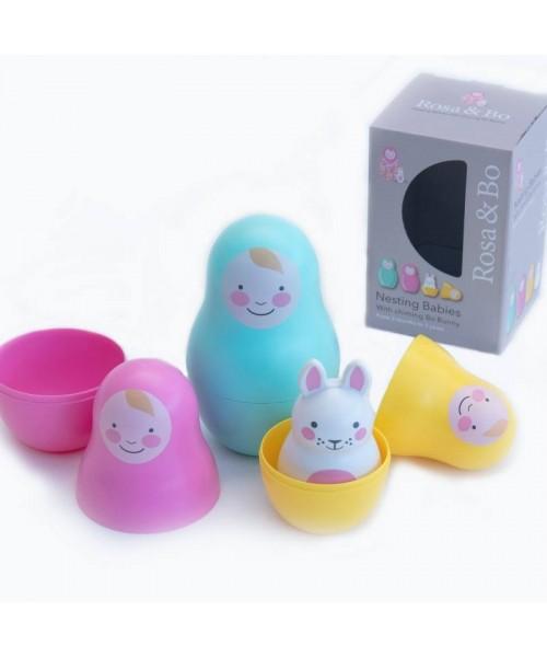 Jucării multisenzoriale Nesting Babies - Rainbow