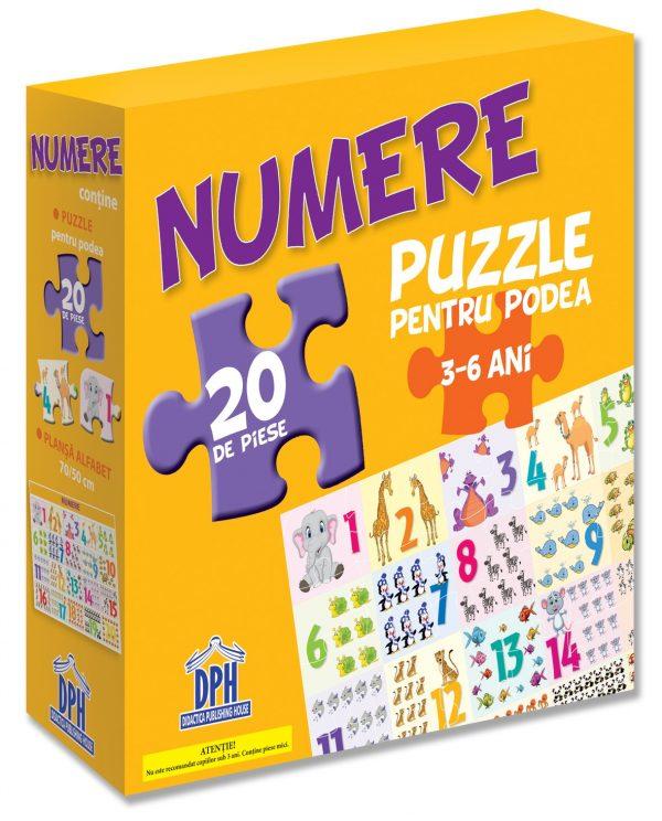 Puzzle pentru podea - Numere - 3-6 Ani