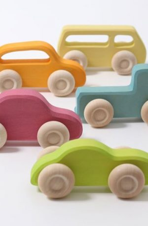 Set masinute (wooden cars slimlime)