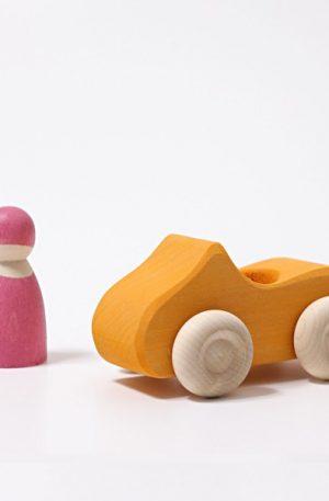Masinuta din lemn (small convertible yellow)