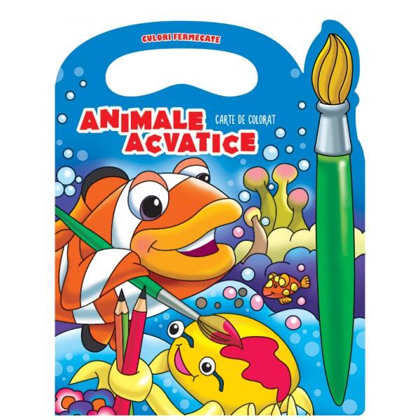 Culori fermecate. Animale acvatice. Carte de colorat
