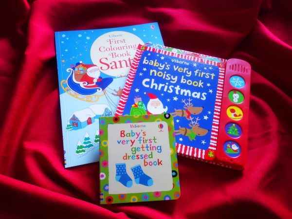 Pachet LD_004_89: First Colouring Book Santa; BVF Noisy Book Christmas; BVF Getting Dressed Book