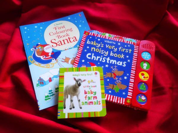 Pachet LD_006_89: First Colouring Book Santa; BVF Noisy Book Christmas; BVF Farm Animals