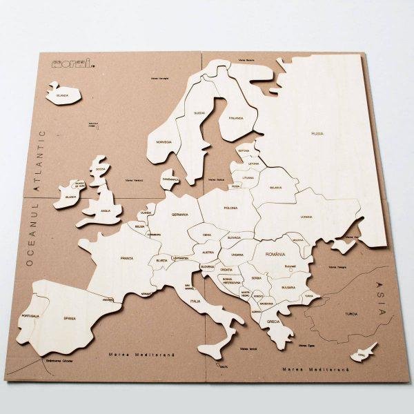 Puzzle Hartă – Europa