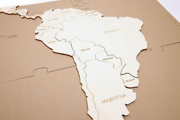 Puzzle Hartă – America de Sud