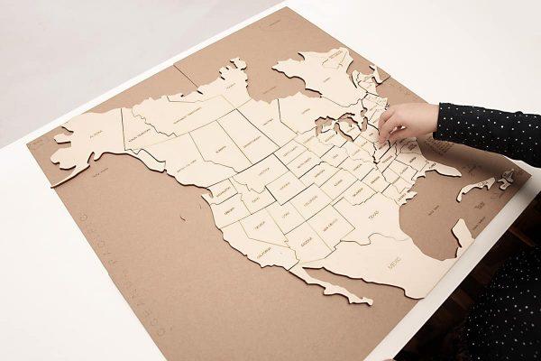 Puzzle Hartă – America de Nord