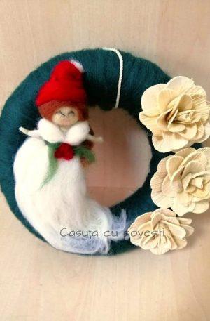 Coronita cu flori (lucrata manual)