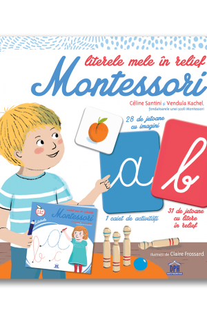 Literele mele in relief Montessori