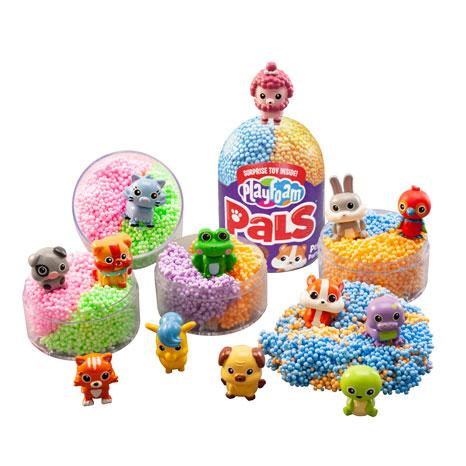 Spuma Modelatoare cu jucarie surpriza Pet Party 12-Pack