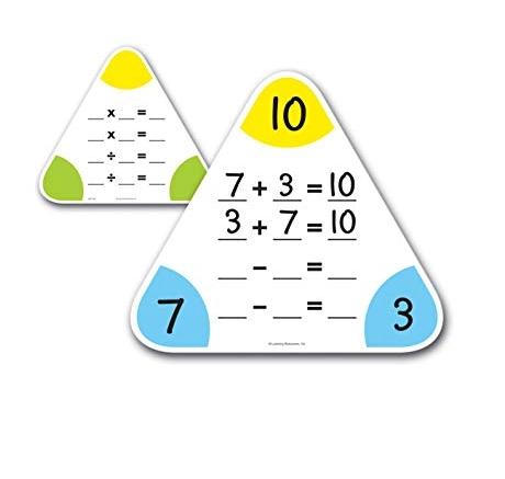 Wipe-Clean Fact Family Boards (Set of 5) - Cartonase matematice