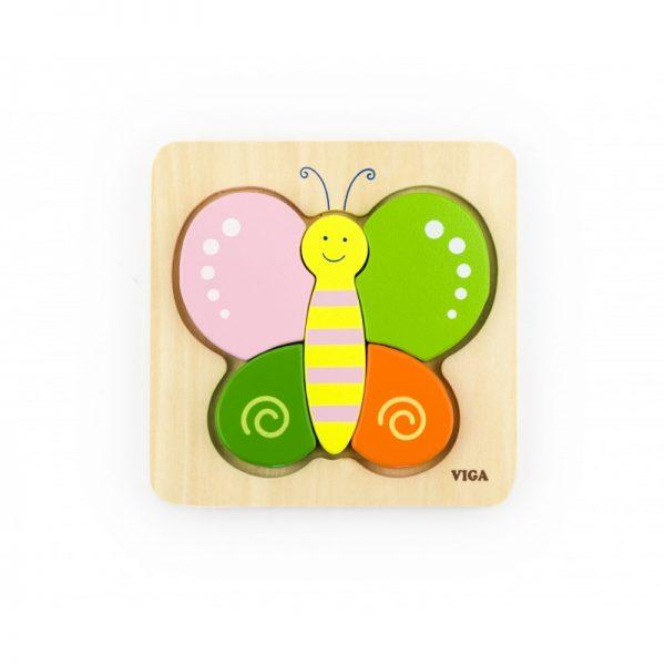 Puzzle din lemn - fluturas
