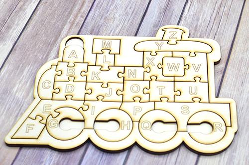 Puzzle din lemn - trenulet