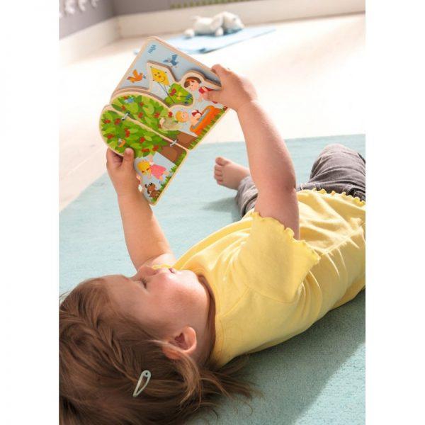 Carte din lemn pentru bebelusi - Anotimpurile