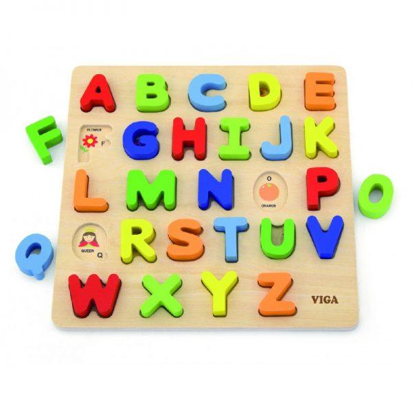 Puzzle 3D Litere mari, Viga