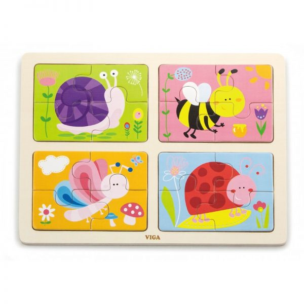 Puzzle 4 in 1 - Insecte