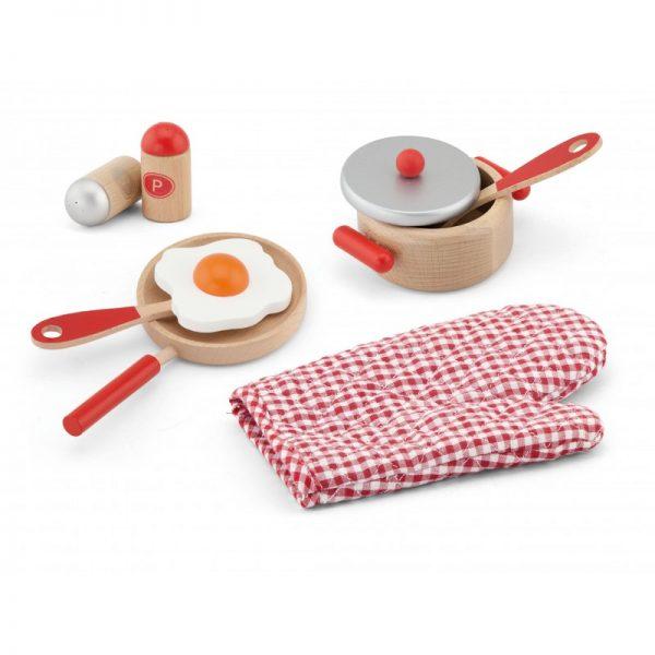 Set accesorii pentru gatit - rosu