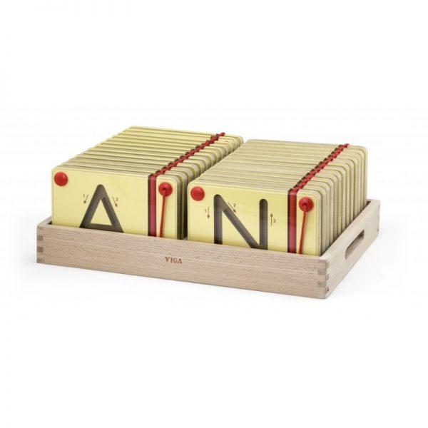 Set magnetic de scriere - Litere mari, Viga