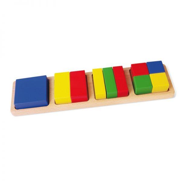 Sortator - blocuri din lemn matematice