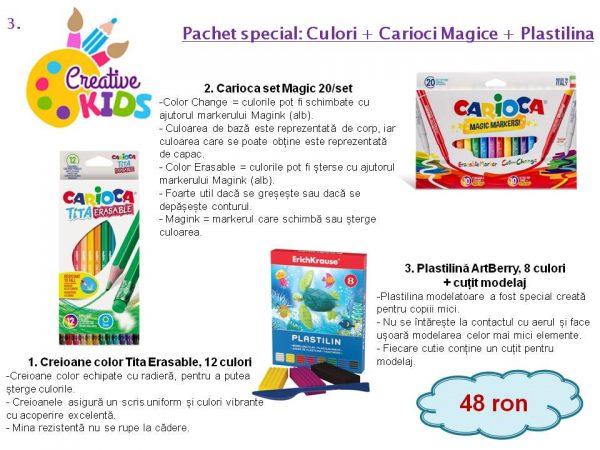 Pachet special: Culori + Carioci Magice + Plastilina