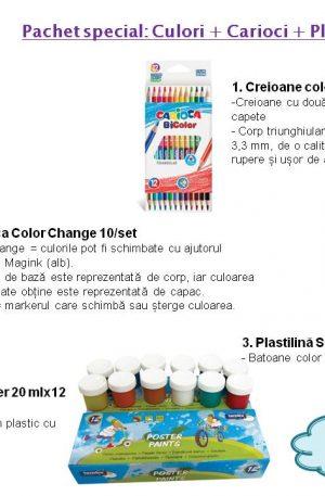 Pachet special: Culori + Carioci + Plastilina + Acuarele