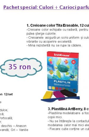 Pachet special: Culori + Carioci parfumate + Plastilina
