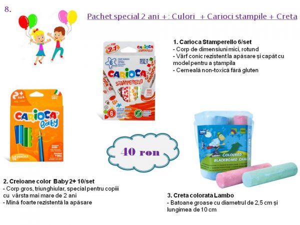 Pachet special 2 ani +: Culori + Carioci stampile + Creta