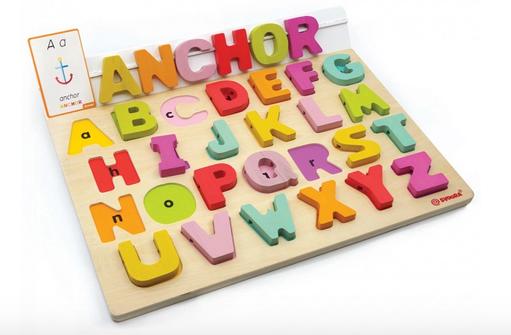 Puzzle Alfabet din lemn cu 50 piese