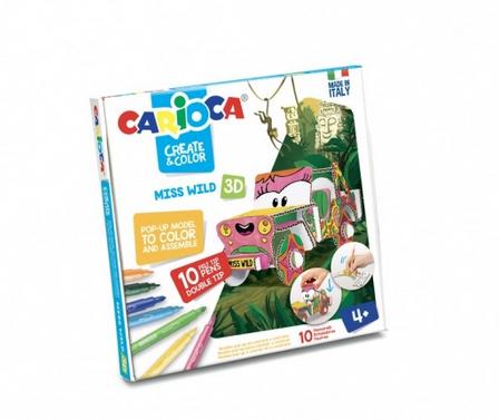 Set creativ Create & Color Carioca Miss Wild 3D