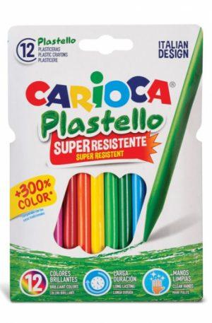 Creioane plastifiate Carioca Plastello 12/set