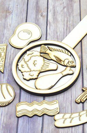 Kit din lemn – Tigaia cu Alimente