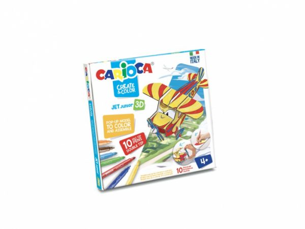Set creativ Create & Color Carioca Jet Junior 3D