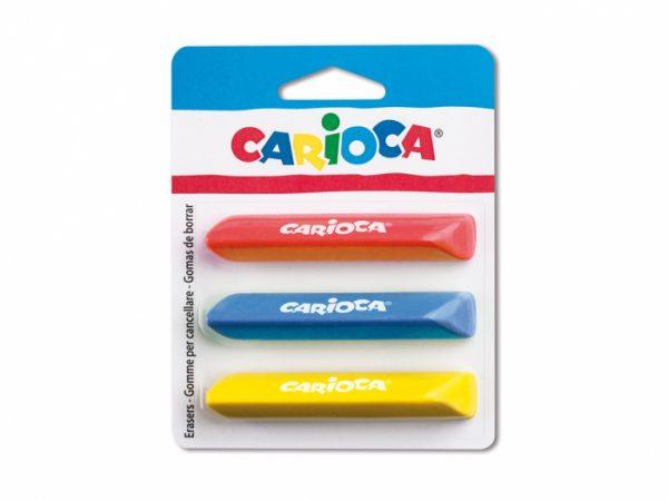 Set gumă de șters Carioca