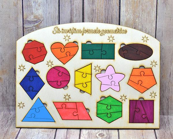 Puzzle - Sa invatam formele geometrice