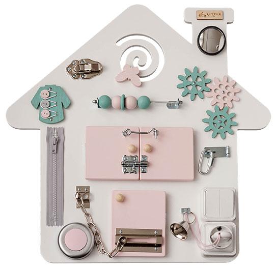 Busy board casuta roz Little Handy